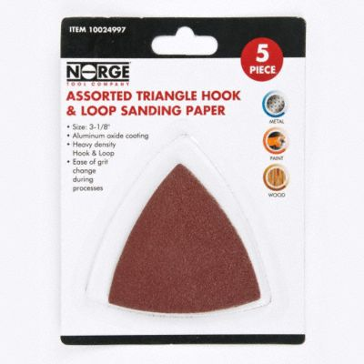 3-1/8&#034; Triangle Hook &amp; Loop Sanding Paper 5-Pack